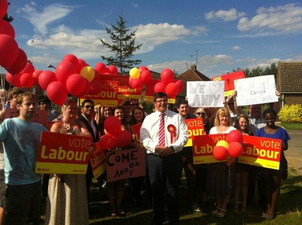 Campaigning in Thrapston
