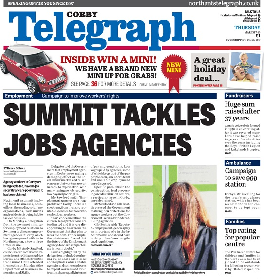 Agency Summit front page
