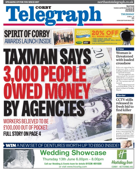 Corby front page - employment agencies