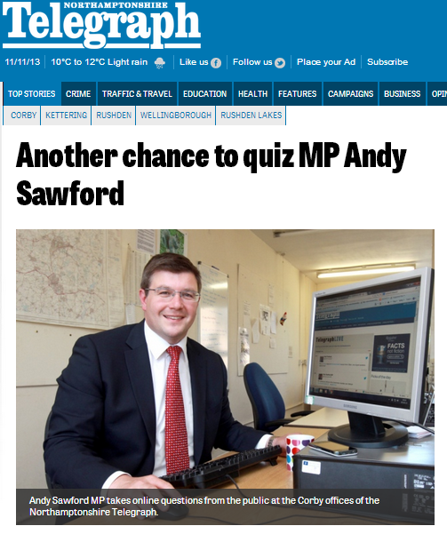 Another chance to quiz Andy Sawford