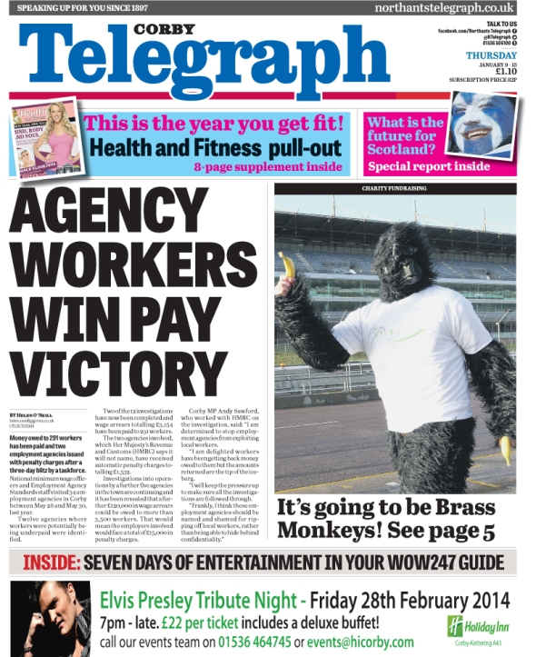 CT front page - agencies